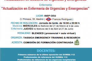 TASSICA Emergency, Training & Research organiza los cursos de preparación OPE urgencias SUMMA 112.
